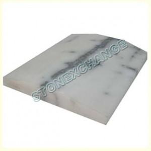 Nuevo White Carrara Thresholds- Double Hollywood Bevel