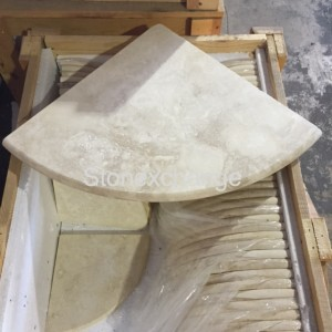 Windowsill's Travertine Corner Soap Shelf vs. Metal Corner Shelves
