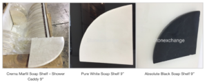 Marble Soap Shelves For Luxury Showers
