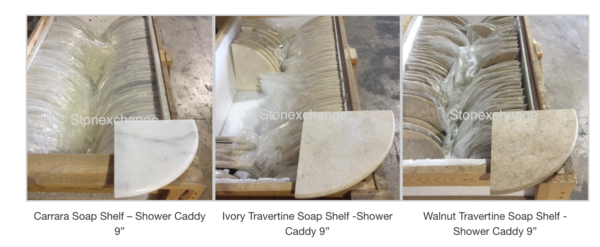 Marble Soap Shelves For Luxury Showers