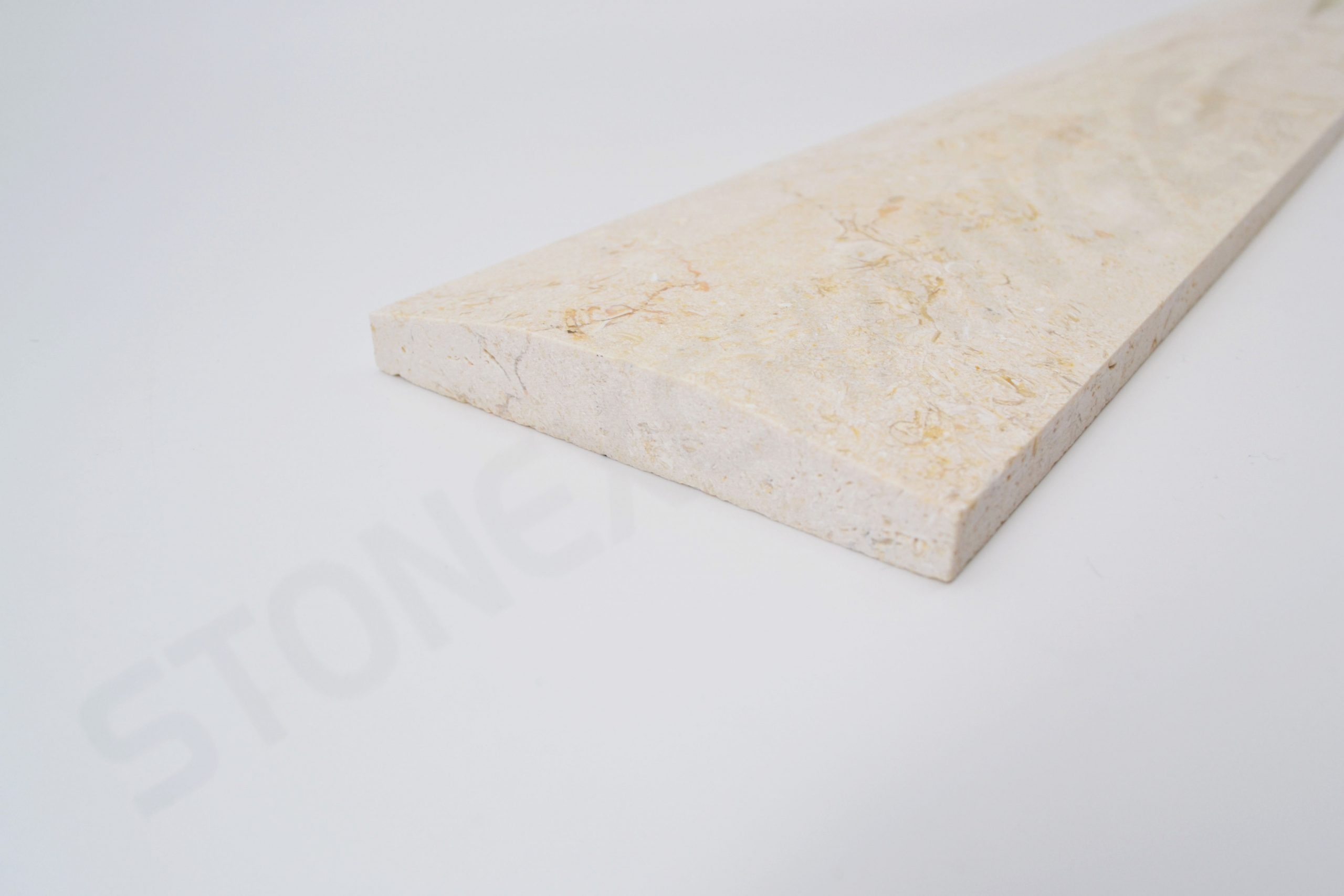Crema Marfil Marble Double Hollywood Bevel Threshold 4x36