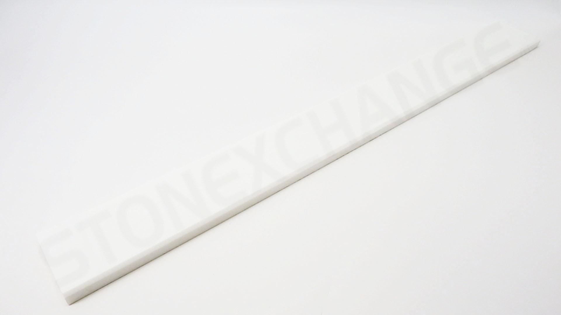 Pure White Engineered Stone 4x36 Standard Double Bevel Threshold