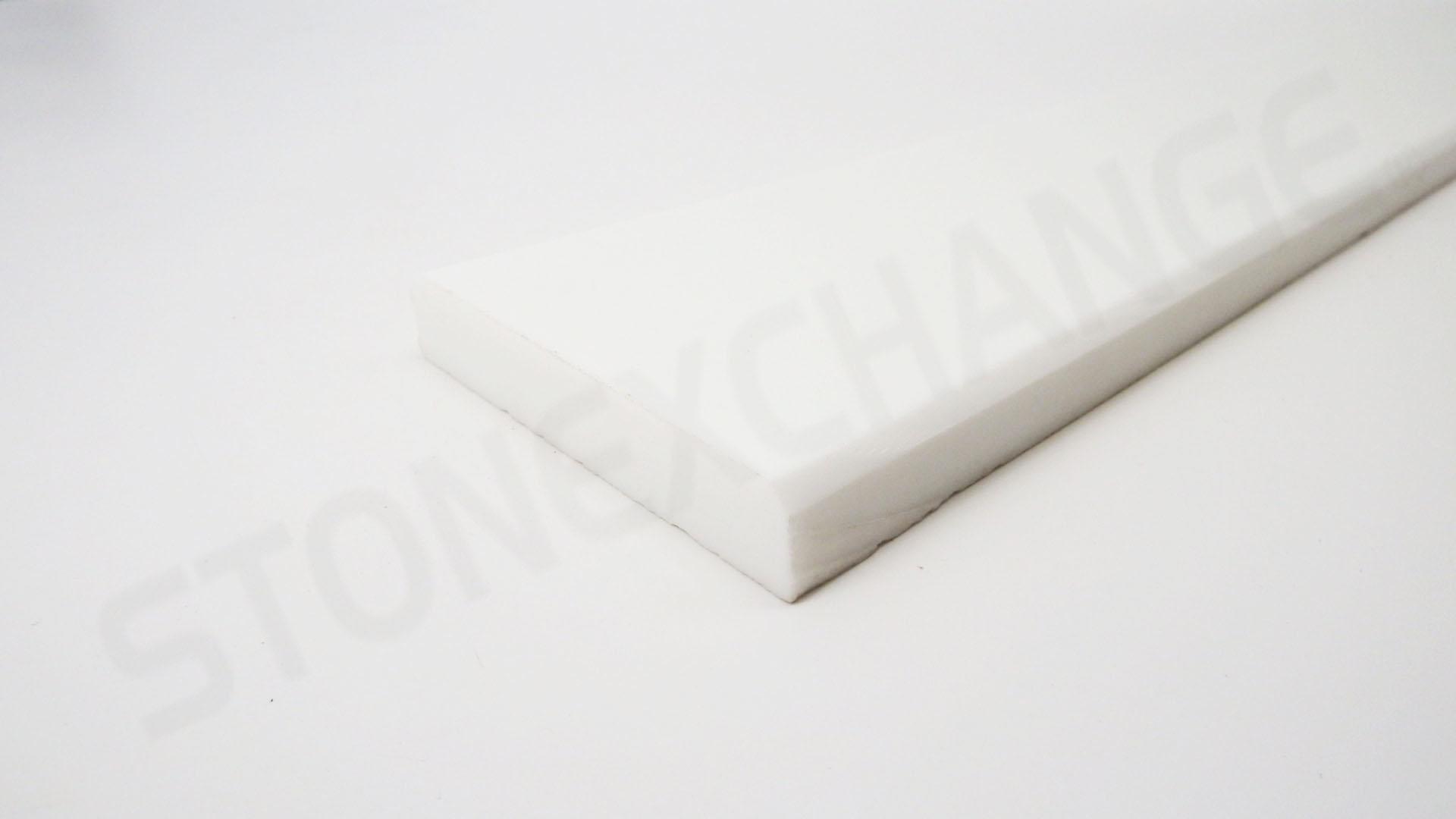 Pure White Engineered Stone Standard Double Bevel 4x36 Threshold