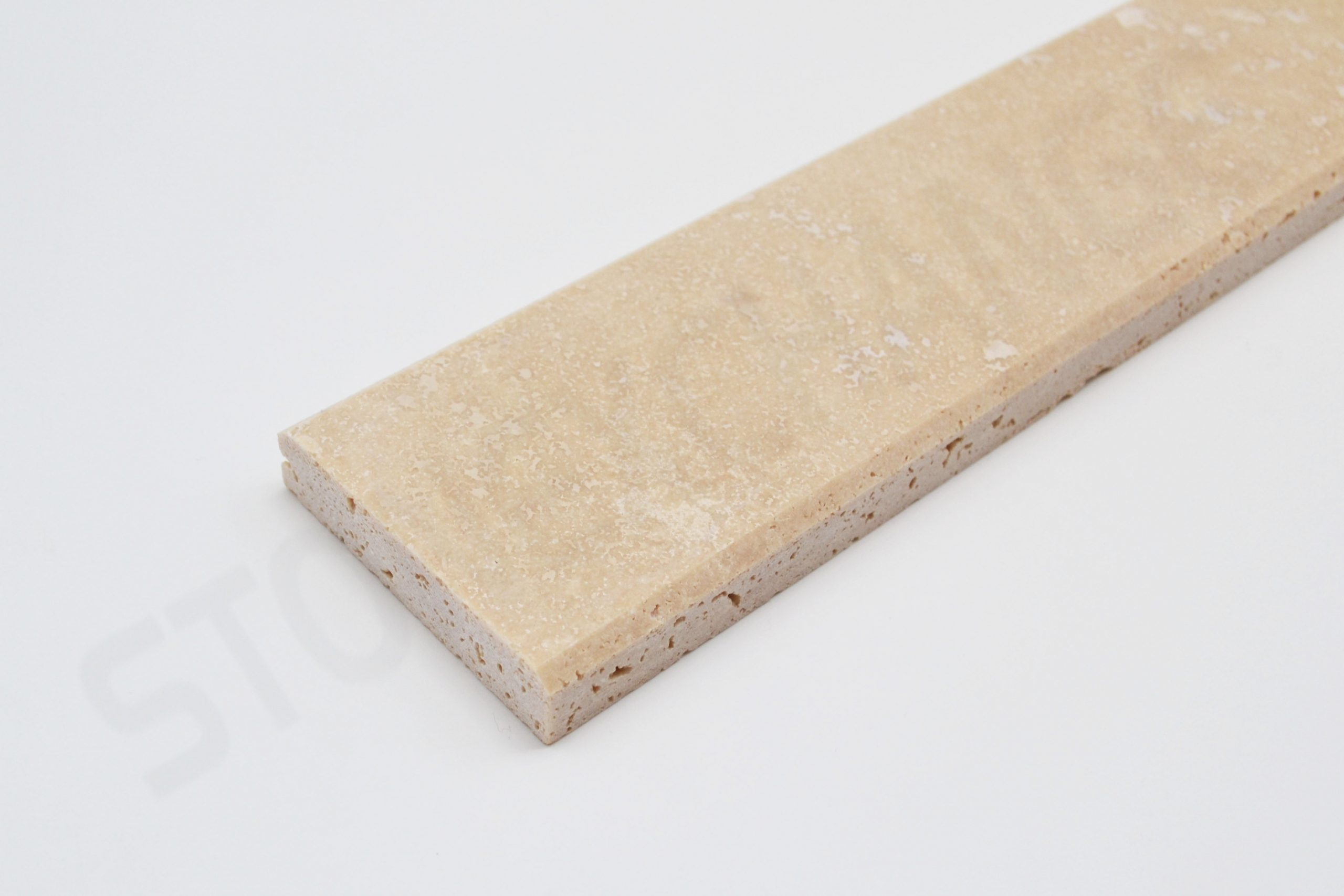 Travertine Threshold Double Standard Bevel 2x36