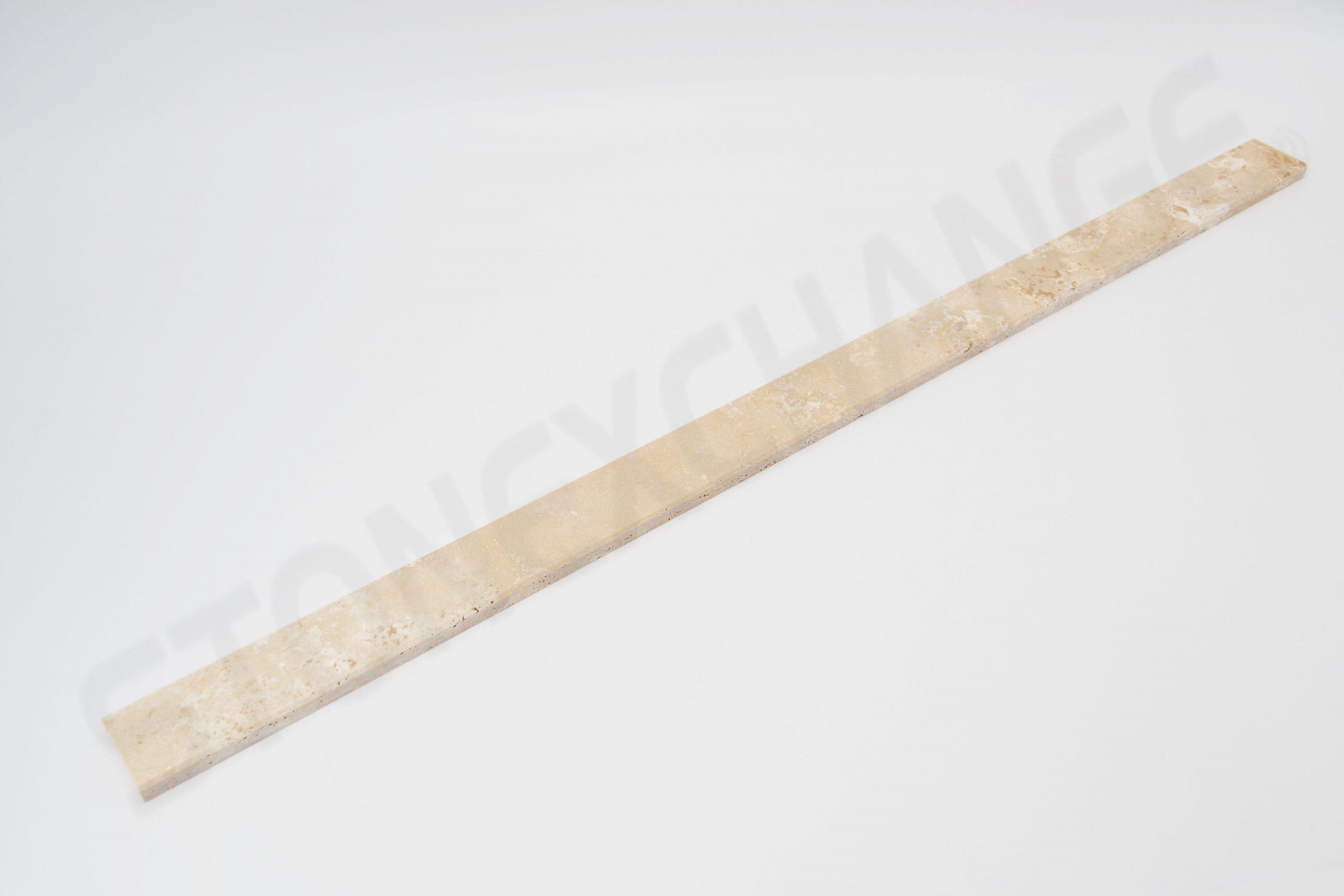 Travertine Threshold Double Standard Bevel 2x36
